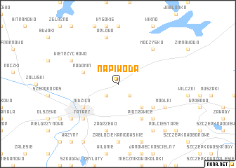 map of Napiwoda