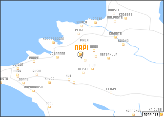 map of Napi
