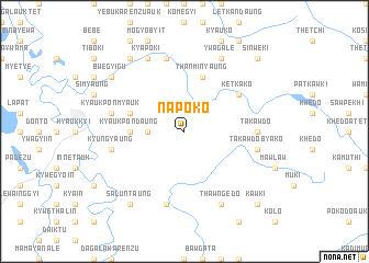 map of Napoko