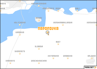 map of Naporovka