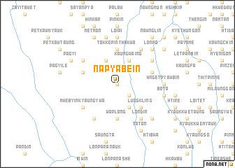 map of Napyabein