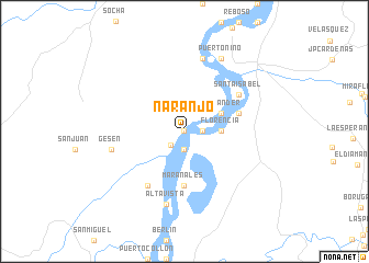 map of Naranjo