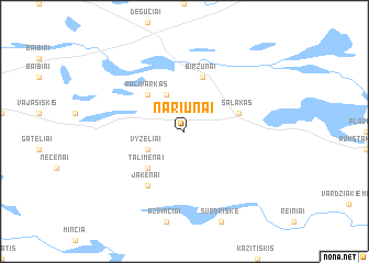 map of Nariūnai