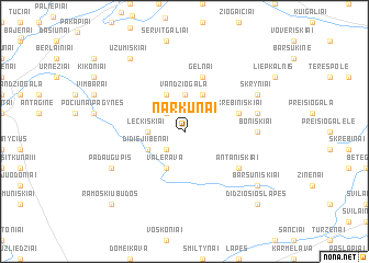 map of Narkūnai