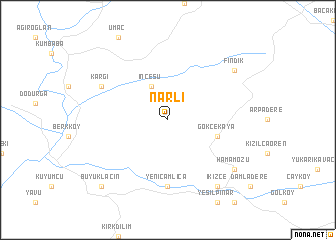 map of Narlı