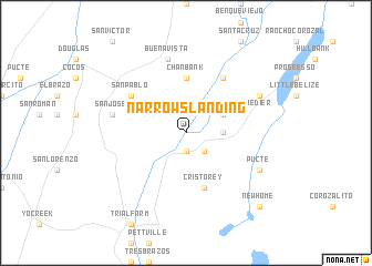 map of Narrows Landing