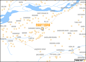 map of Nartopa