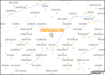 map of Narušaičiai