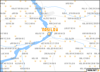 map of Nasiłów