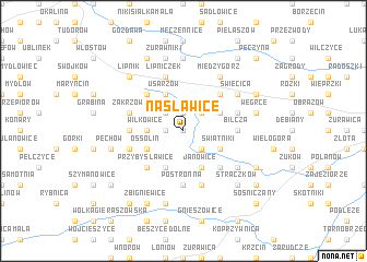 map of Nasławice