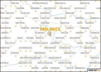 map of Nasławice