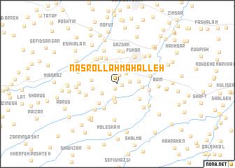 map of Naşrollāh Maḩalleh