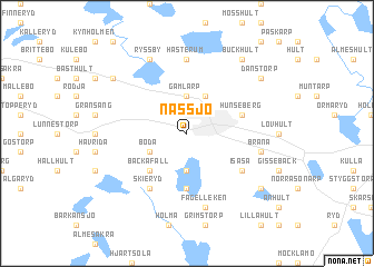 map of Nässjö