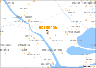 map of Natividad