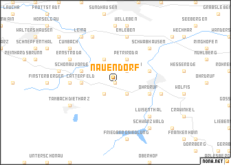 map of Nauendorf