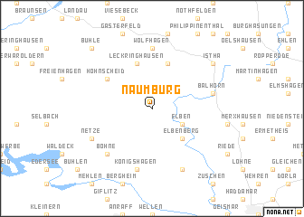 map of Naumburg