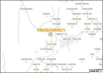 map of Naungkhangyi