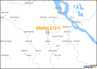 map of Naungletgyi