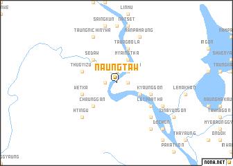 map of Naungtaw
