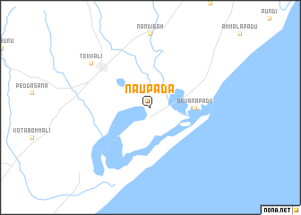 map of Naupada