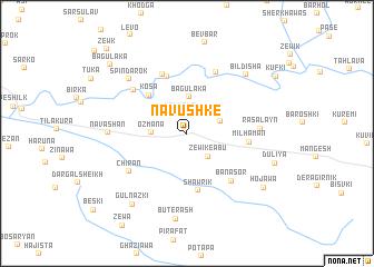 map of Nāvushkē