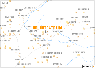 map of Nawbat al Yazīdī