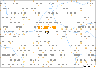 map of Nawnghsim