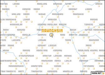 map of Nawnghsim