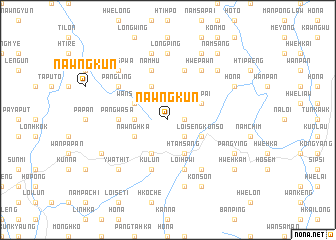 map of Nawngkun