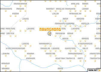 map of Nawngmöng