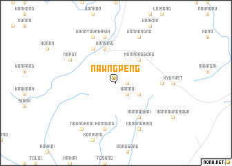 map of Nawngpeng