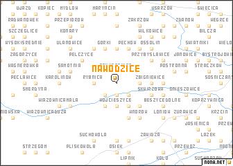 map of Nawodzice