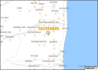 map of Naz̧arābād