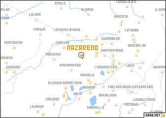 map of Nazareno