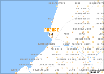 map of Nazaré
