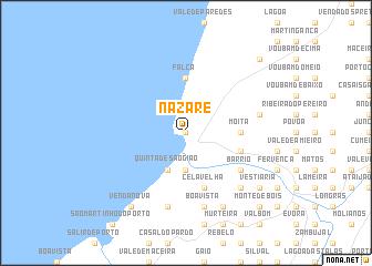 Nazaré Portugal Map Nonanet - Portugal map nazare