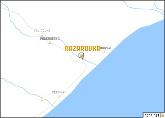 map of Nazarovka