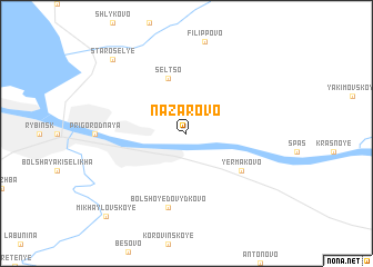map of Nazarovo