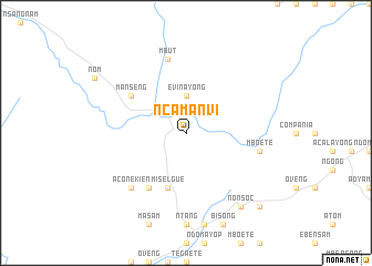 map of Ncamanvi