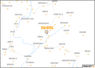 map of Ndiang