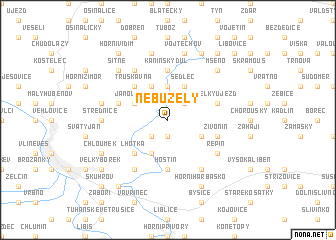 map of Nebužely