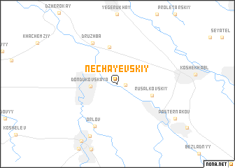 map of Nechayevskiy