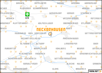 map of Neckarhausen