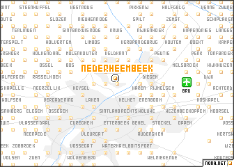 map of Nederheembeek