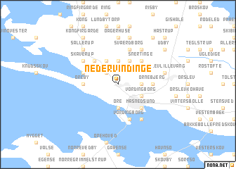 map of Neder Vindinge