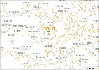 map of Neđići