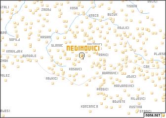map of Nedimovići