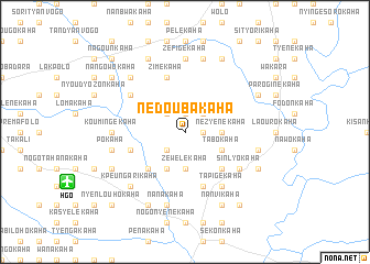map of Nédoubakaha