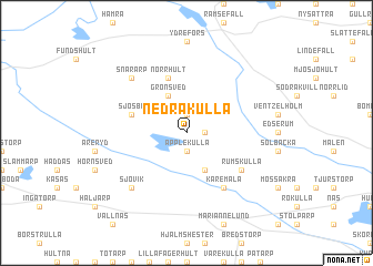 map of Nedrakulla