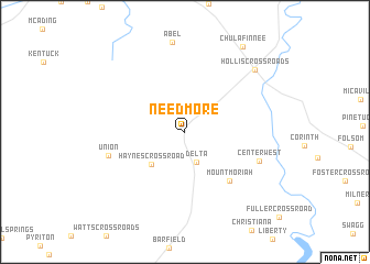 map of Needmore